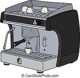 The black espresso maker