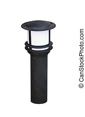 The black garden fixture separately on a white background