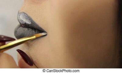 The Black Lipstick Makeup - The black lipstick makeup female...