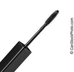 black Mascara brush isolated on white background