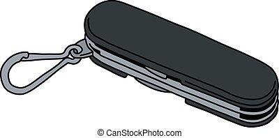 The black pocket knife