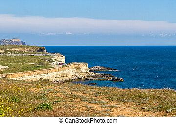 Black Sea coast near the city of Sevastopol