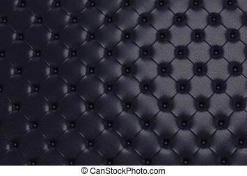 the black texture of the skin quilted sofa