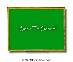The Blackboard of back to school isolated on white background