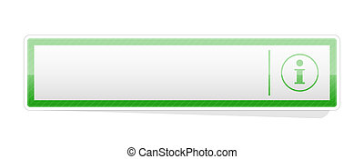 the blank green info button