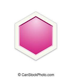 the blank hexagon template