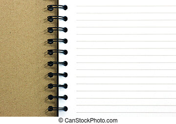The Blank of notebook
