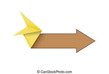 origami style arrow