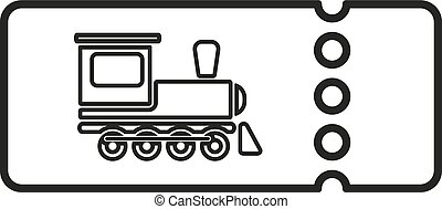 The blank train ticket icon. Travel symbol. Flat Vector...