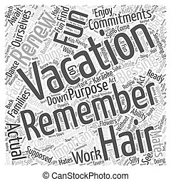 The Blessings Of Vacations Word Cloud Concept