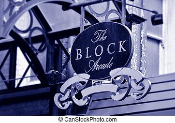 The Block Arcade Street Sign - Melbourne - The Block Arcade...