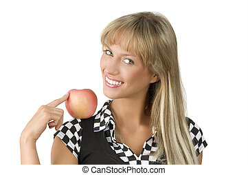 the blond and apple