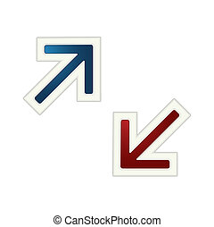 The blue and red  arrow