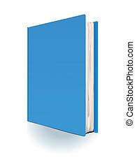 The blue book on white background
