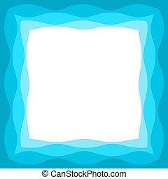 The blue frame.
