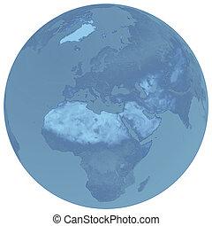The blue globe