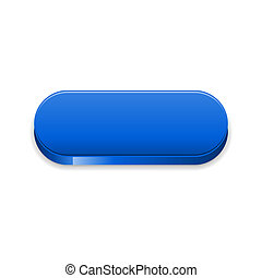 The blue glossy button