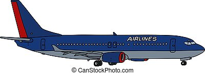The blue jet airliner