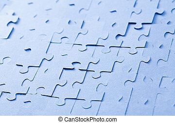 jigsaw puzzle background - the blue jigsaw puzzle background