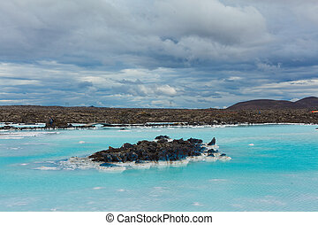 The blue lagoon geothermal bath. - The famous blue lagoon ...