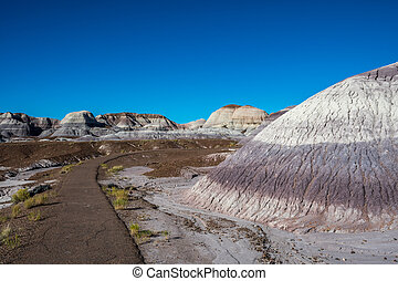 Scenic view from the Painted Desert Badlands of the preserve park