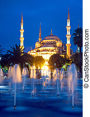 The Blue Mosque In Istanbul at dawn