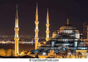 Blue Mosque in Istanbul - The Blue Mosque in Istanbul is a...