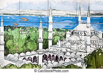 The Blue Mosque Painting