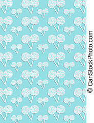 The blue pattern of many candys - The blue abstract pattern...