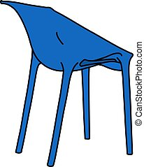The blue plastic chair