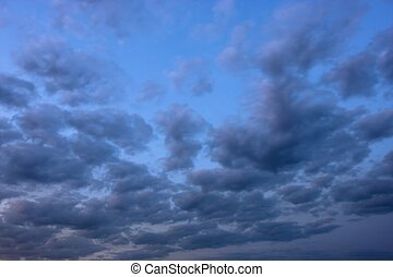 The blue sky with clouds