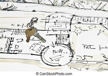the blueprint of a house