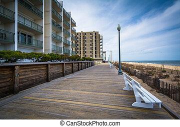 The boardwalk in Rehoboth Beach, Delaware.