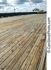 Dufferin Terrace - The boardwalk of the Dufferin Terrace,...