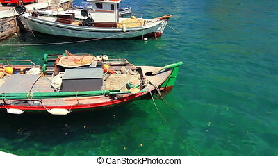 The boats of fishermen