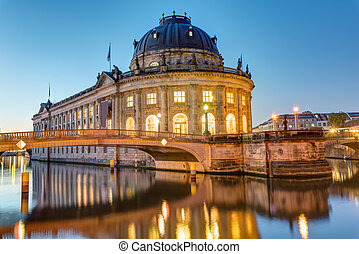 The Bode-Museum in Berlin at dawn