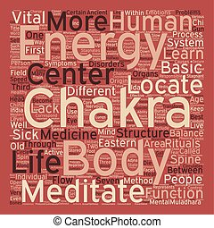 The Body s Energy Centers text background wordcloud concept