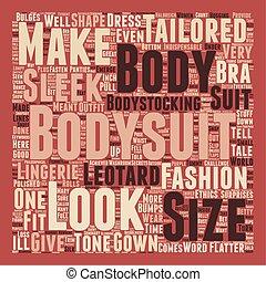The Bodysuit text background wordcloud concept
