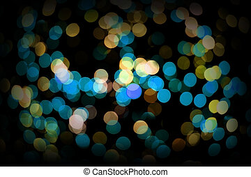 The bokeh lights are made up of a small LED lights