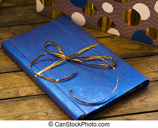 The book in a gift box