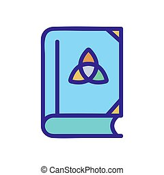 the book of wizard icon vector outline illustration