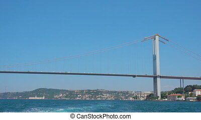 The Bosphorus Bridge (15 July Martyrs Bridge) in Istanbul,...