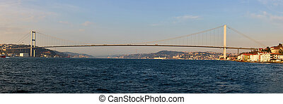 The Bosphorus Bridge connecting Europe and Asia.