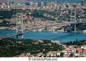 The Bosphorus Bridge from the view of Camlica hill in...