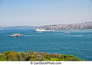 The Bosphorus Strait - View from the Topkapi Palace on the...