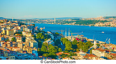 Bosporus Strait in Istanbul - The Bosporus Strait in...