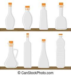 The bottle for oil.