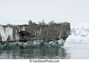 The bottom of the iceberg, which overturned.