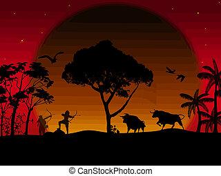 The bow hunting buffalo