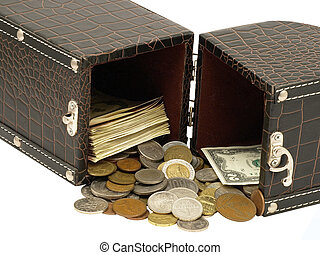 The box with the money.